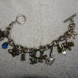 American Eagle Silver Tone Charm Bracelet